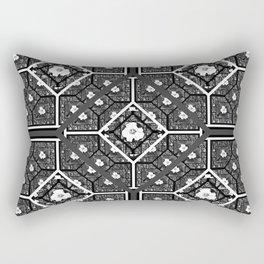 Cherokee Rose Pattern 1 black gray white Rectangular Pillow