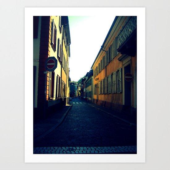Simple Cobblestone Street. Art Print