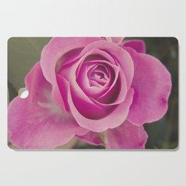 Close up of a rose Cutting Board