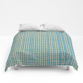 Plaid Lines in Blue Comforters