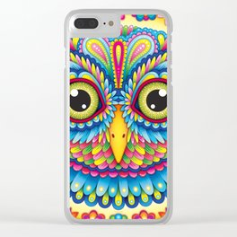 Tropicalia Owl Art Clear iPhone Case