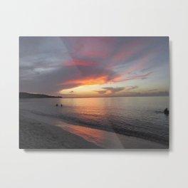 Pink Clouds over Grenada Metal Print