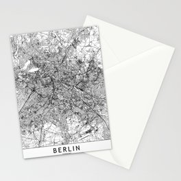 Berlin White Map Stationery Cards