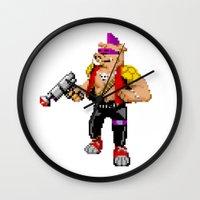cowboy bebop Wall Clocks featuring Bebop by haydiroket