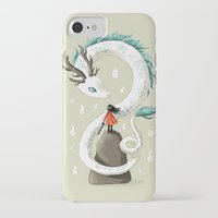 spirit iPhone & iPod Cases featuring Dragon Spirit by Freeminds
