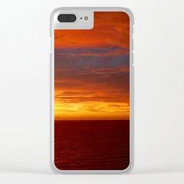 Sangria Sea Clear iPhone Case