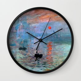 Iconic Claude Monet Impression, Sunrise Wall Clock