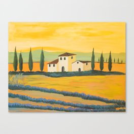 Beautiful landscape tuscan Canvas Print