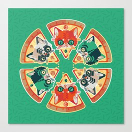 Pizza Slice Cats  Canvas Print
