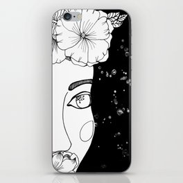 mujer espacial iPhone Skin
