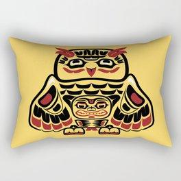 Owl, North-American art stylization Rectangular Pillow