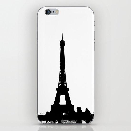 Eiffel Silhouette iPhone & iPod Skin