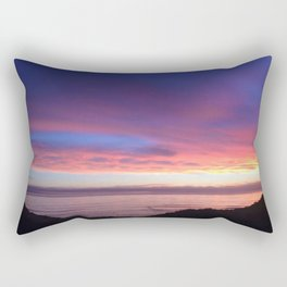 Purple and Pink Summer Beach Sunset Rectangular Pillow