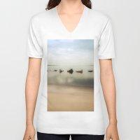 rocks V-neck T-shirts featuring Rocks by Terri Ellis