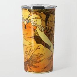 "Alphonse Mucha ""World's Fair, St. Louis, Missouri"", 1904 Travel Mug"