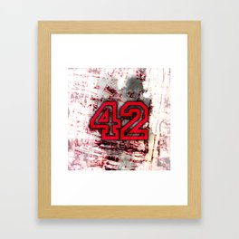 42 Framed Art Print