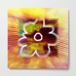 Yellow flower and line Metal Print