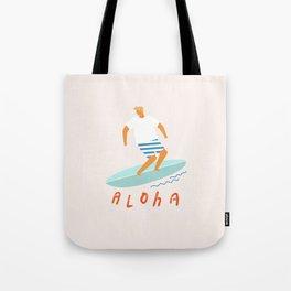 Surfer aloha poster Tote Bag