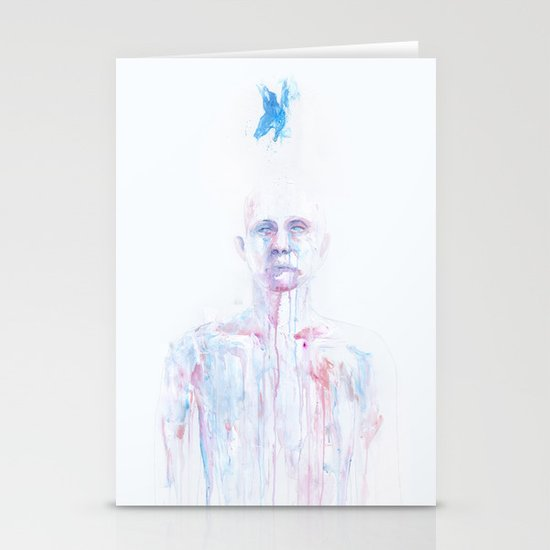Last Blue Breath Stationery Cards