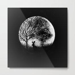 Moon rabbit Metal Print