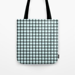 Small Light Cyan Weave Tote Bag