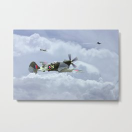 Spitfire XIV, V-1 Hunter Metal Print