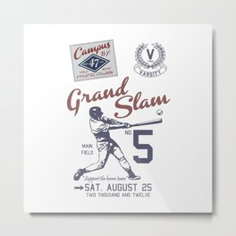Baseball Grand Slam Vintage Design. Metal Print