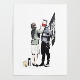 Banksy, Punk with mother Poster