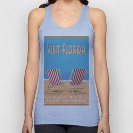 Florida Vintage Travel Poster Unisex Tank Top