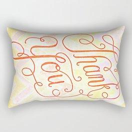Thank you - hand lettered on chevron Rectangular Pillow