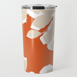 leaves rust and tan Travel Mug