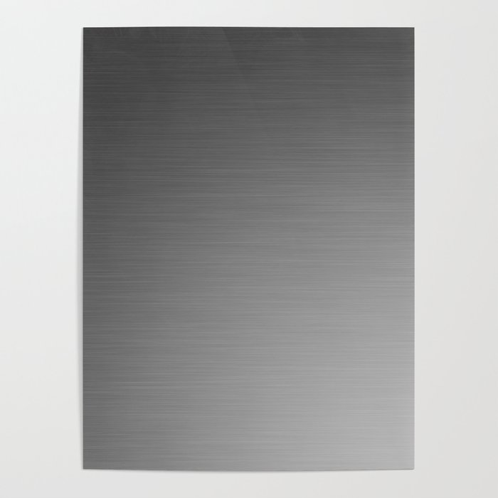 Smooth Sheet Metal Dull Ombre Texture Graphic Design Poster