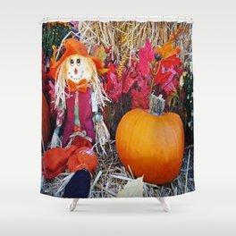Little Mister Scarecrow Shower Curtain
