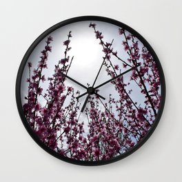Overcast blossoms Wall Clock