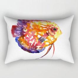 Rainbow Colored Yellow Red Orange Blue Discus Rectangular Pillow