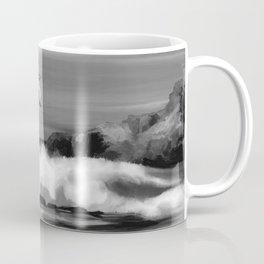 Watercolor Sea (Black and White) Coffee Mug