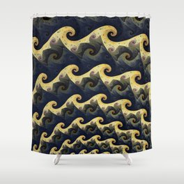 Gnarly Waves Shower Curtain