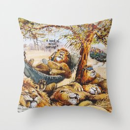 a herd is coming Throw Pillow
