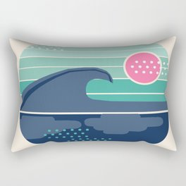 Cya Later - 70's retro ocean wave vintage style throwback 1970s minimal art Rectangular Pillow