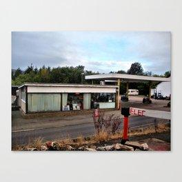 garage near alston, cumbria/ oct 2010 Canvas Print