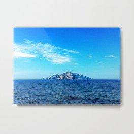 Panoramic view of the Capri Island Metal Print