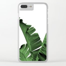 Banana Leaves, Clear iPhone Case