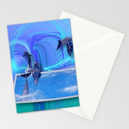 Leaping Dolphins Stationery Cards