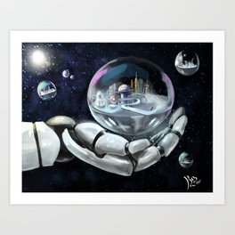 Creating Tomorrow Art Print