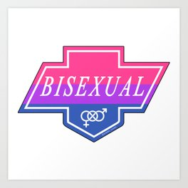 Identity Stamp: Bisexual Art Print