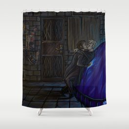 Micah and Drystan Shower Curtain