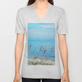 Circle of Rocks and the Tall Grass Unisex V-Neck