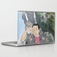 murakami Laptop & iPad Skins featuring HARUKI MURAKAMI by Lucas Eme A
