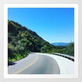 California Spring Road Art Print