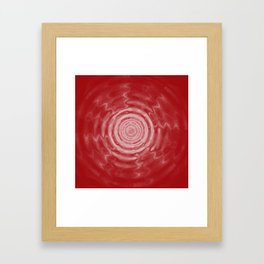 Ripples_Red Framed Art Print